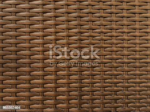 Dark brown synthetic rattan textured