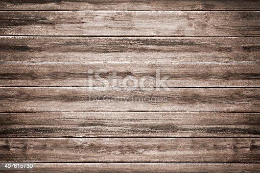 istock Dark Brown Table Background 497615730