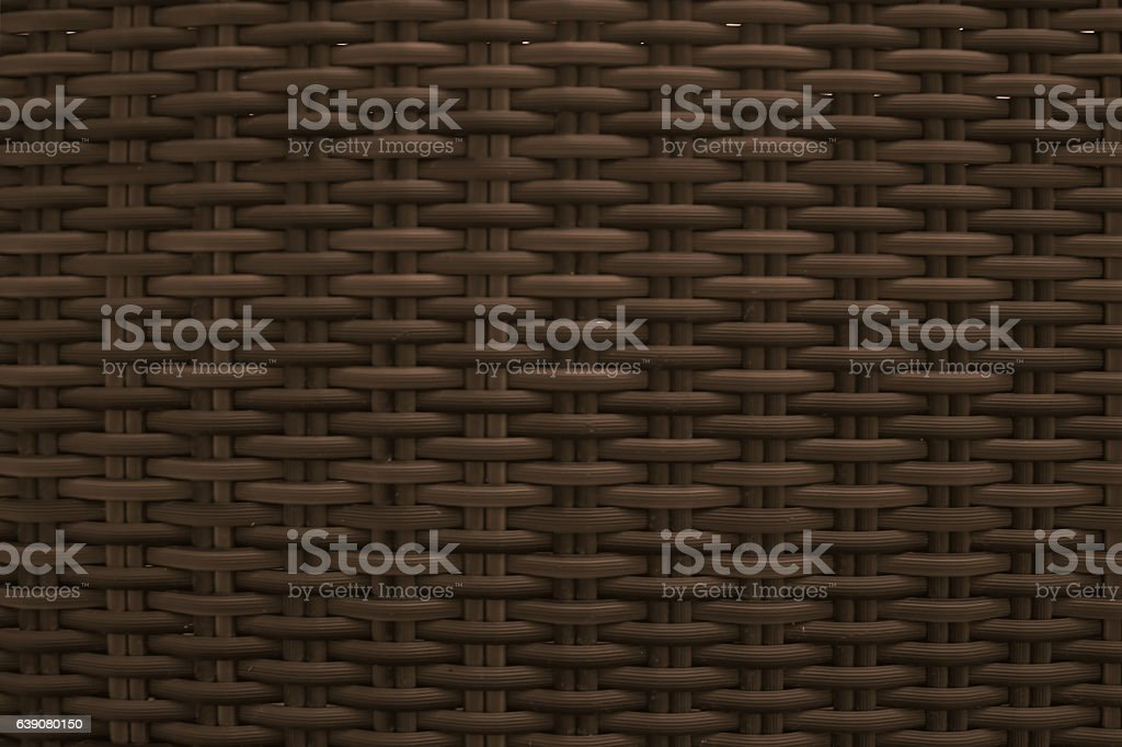 Dark brown wicker seamless textured stock photo