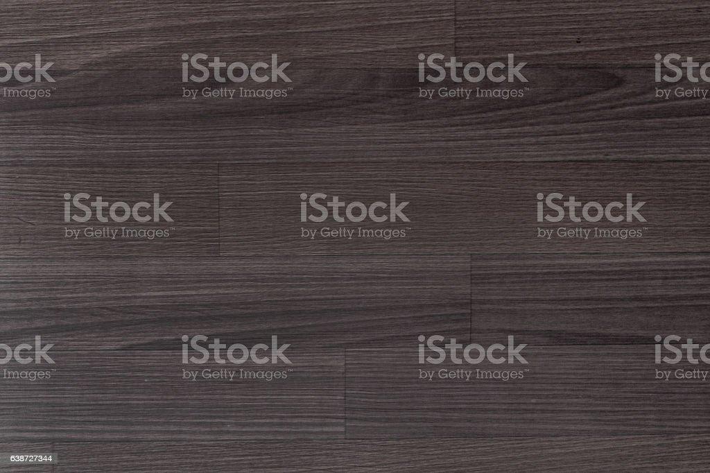 Dark brown wood laminate flooring stock photo
