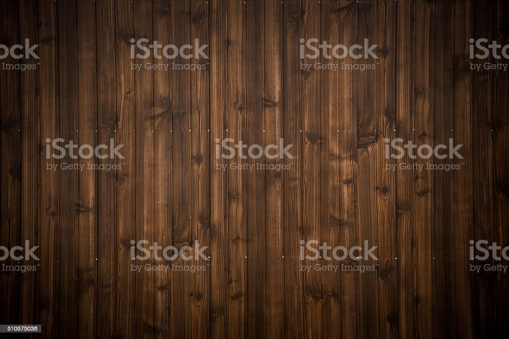 Dark Brown Wood Plank Texture Background Stock Photo