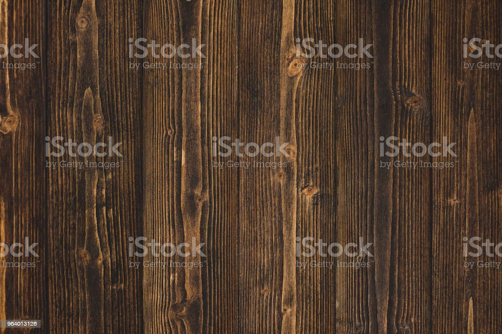Dark brown wood texture with natural striped pattern background - Royalty-free Abstract Stock Photo