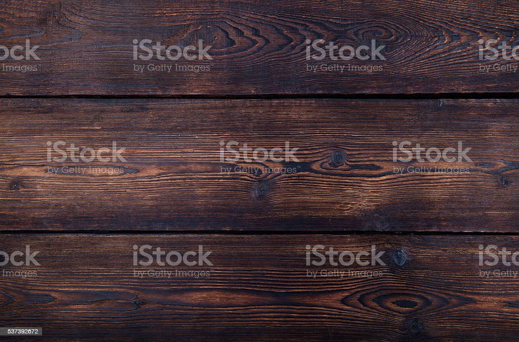 Dark brown wooden background with high resolution. Copy space. stock photo