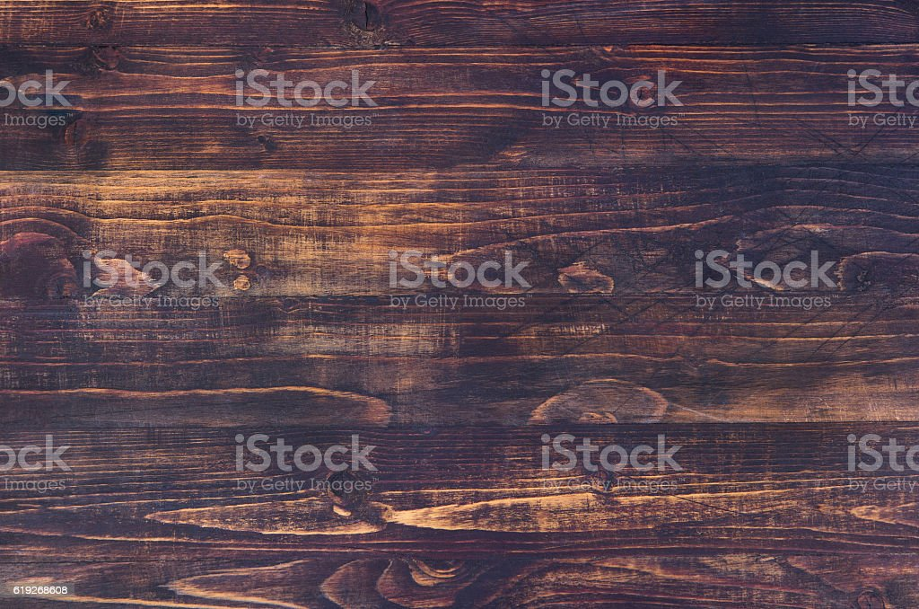Dark brown wooden background with high resolution. Copy space – Foto