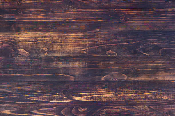 Dark brown wooden background with high resolution. Copy space - foto stock