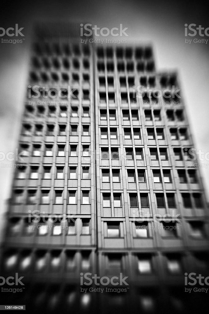 Dark building royalty-free stock photo