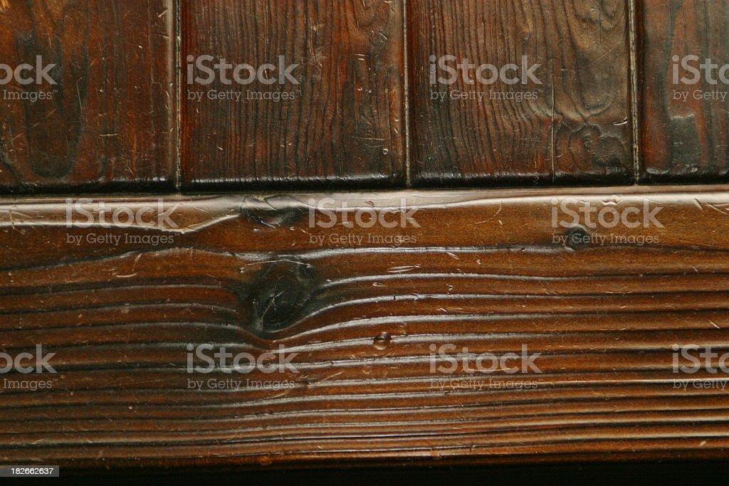 Dark Burnt Pine Wood Finish 1 Stock Photo More Pictures Of