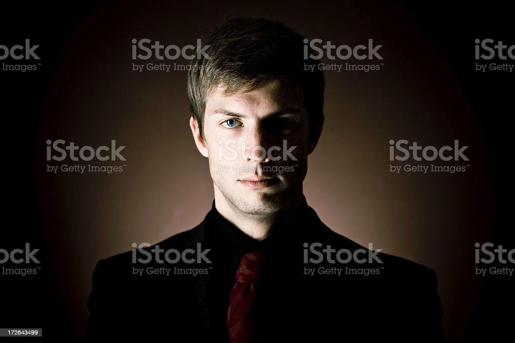 Dark businessman portrait royalty-free stock photo