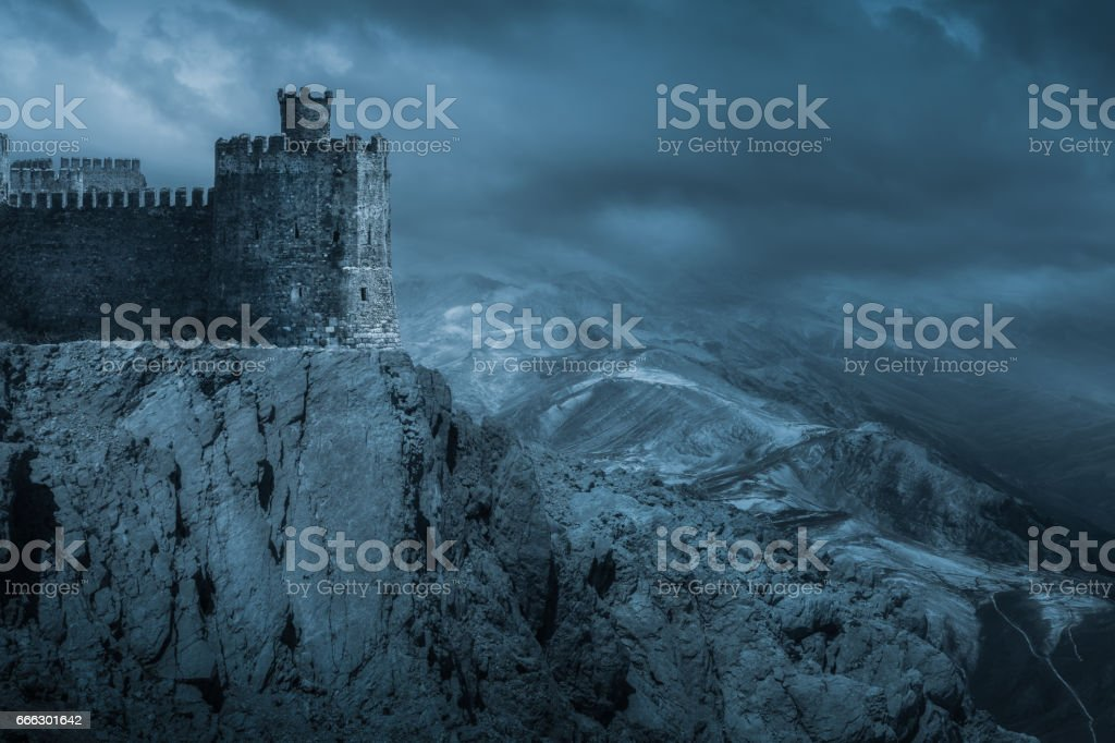 Dark Castle stock photo