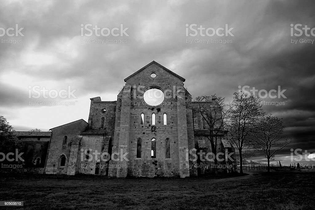 dark cathedral royalty-free stock photo