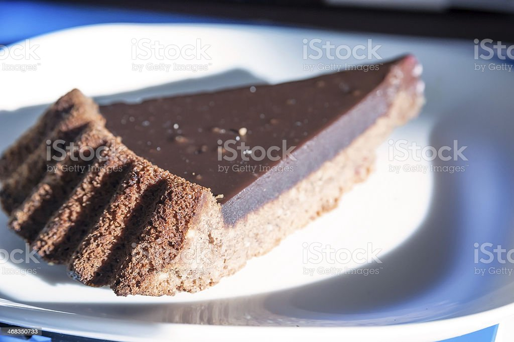 Dark chocolate cake royalty-free stock photo