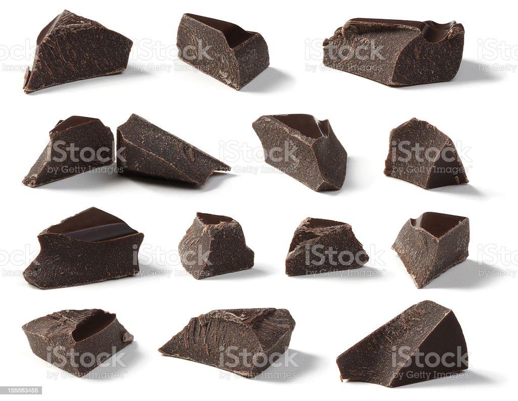 Dark Chocolate Chunks stock photo