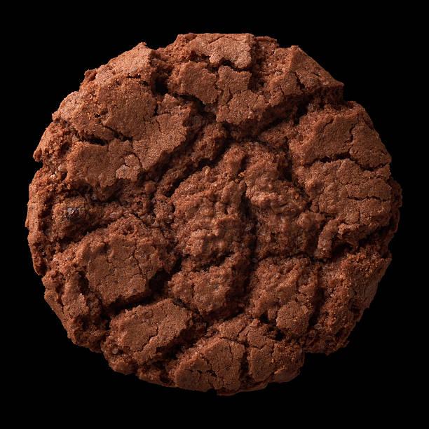 Dark chocolate cookie stock photo