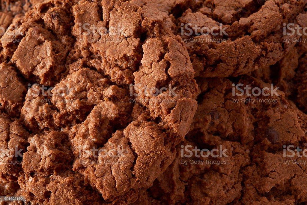 Dark chocolate cookies background royalty-free stock photo