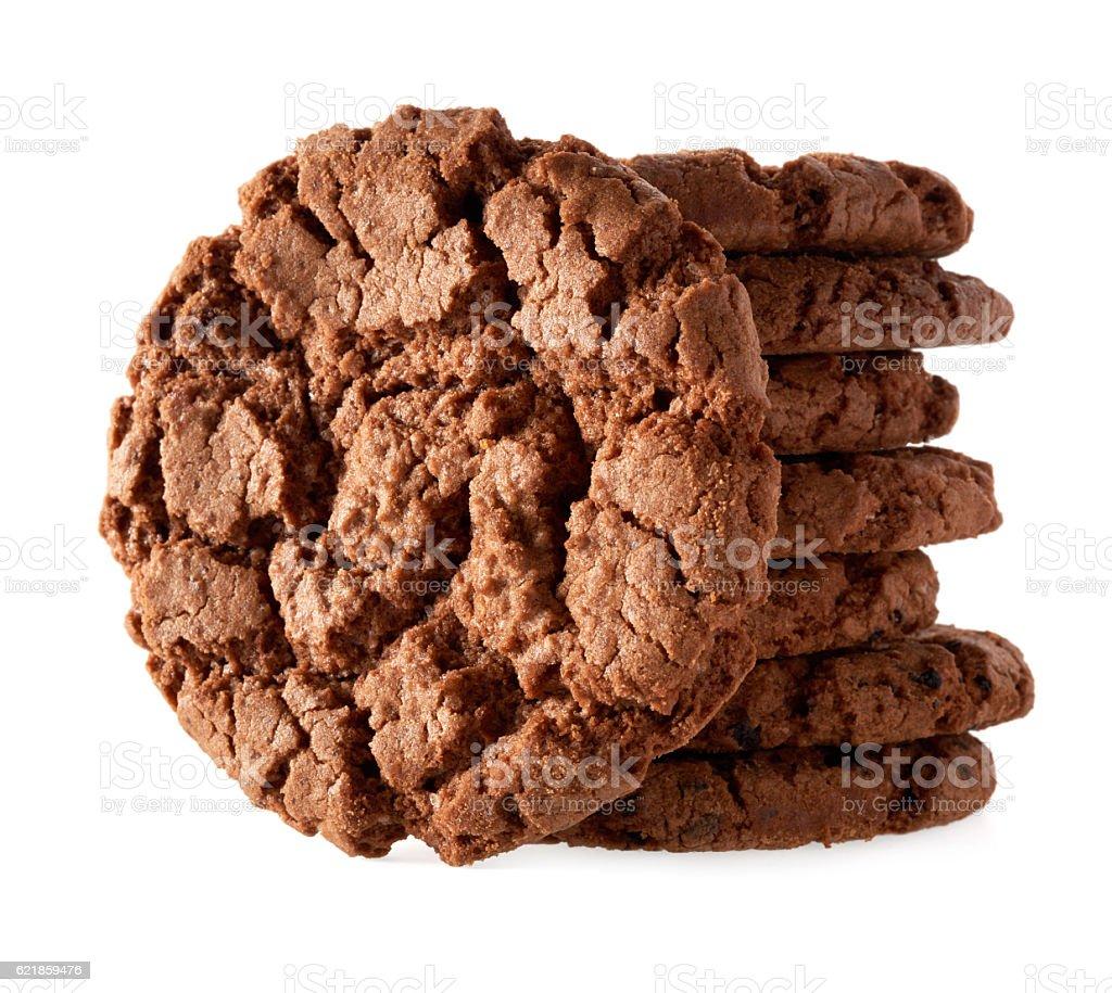 Dark chocolate cookies royalty-free stock photo