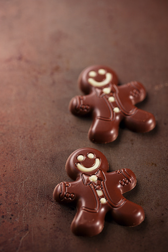 Dark Chocolate Gingerbread Man Stock Photo More Pictures Of Advent
