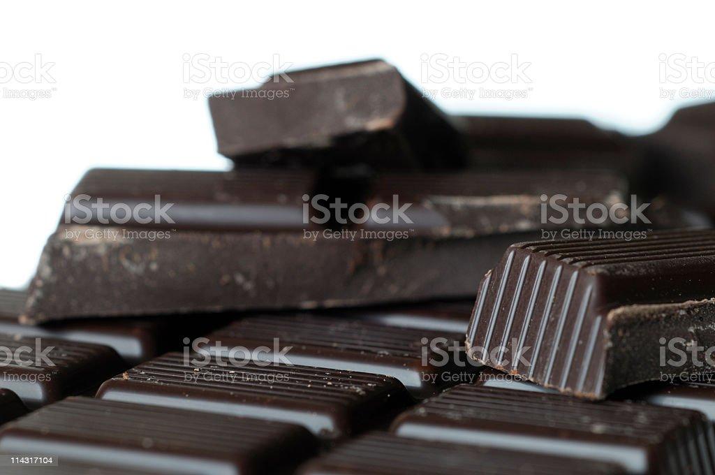 Dark Chocolate on White royalty-free stock photo