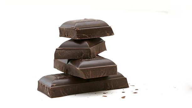 dark chocolate - pure chocola stockfoto's en -beelden