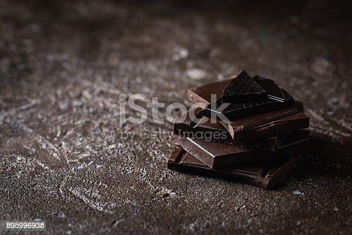istock Dark chocolate stack 895996938