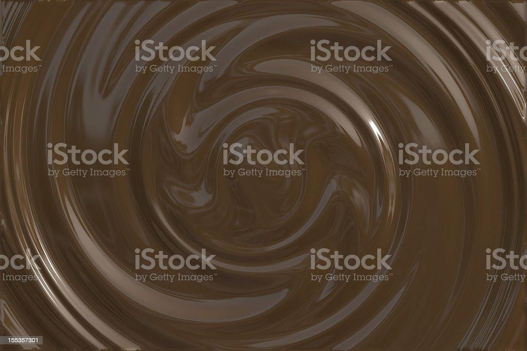 Dark chocolate swirl stock photo