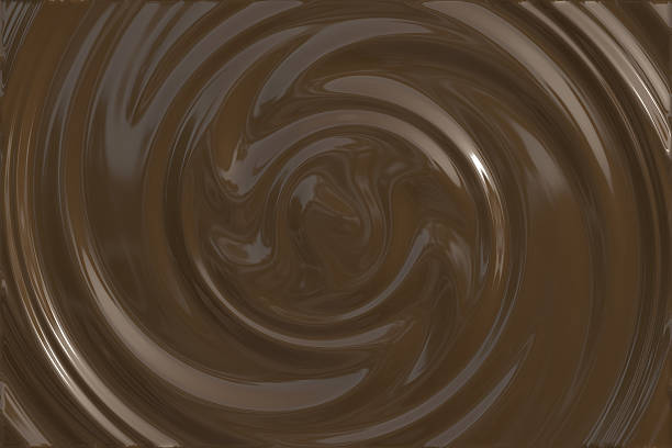 dark chocolate swirl - chocolate syrup stock photos and pictures