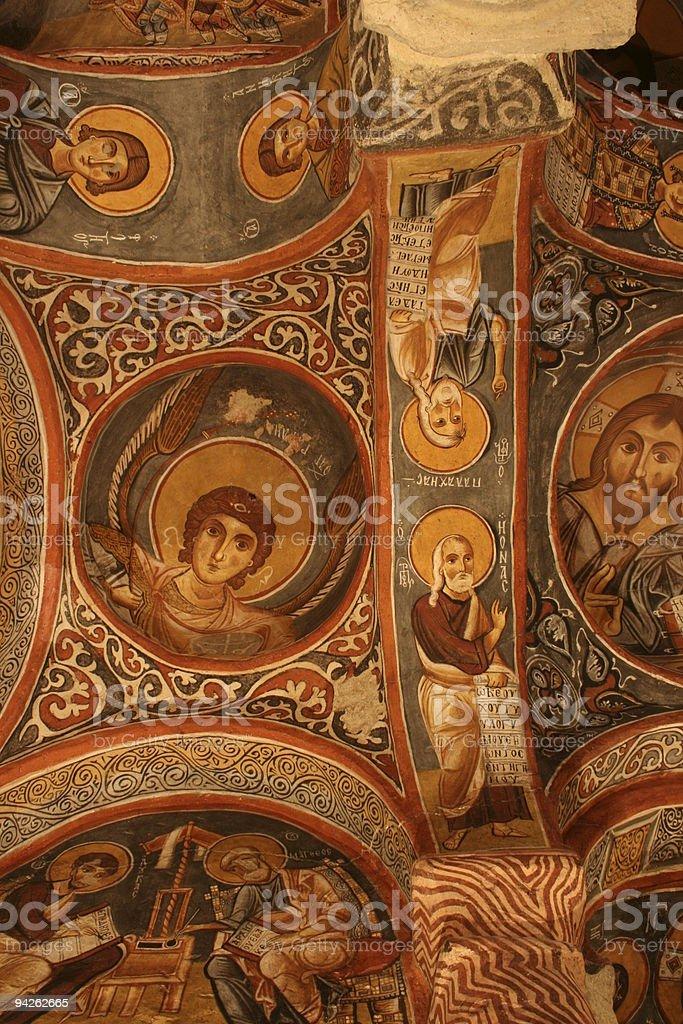 Dark Church, Nevsehir, Turkey royalty-free stock photo