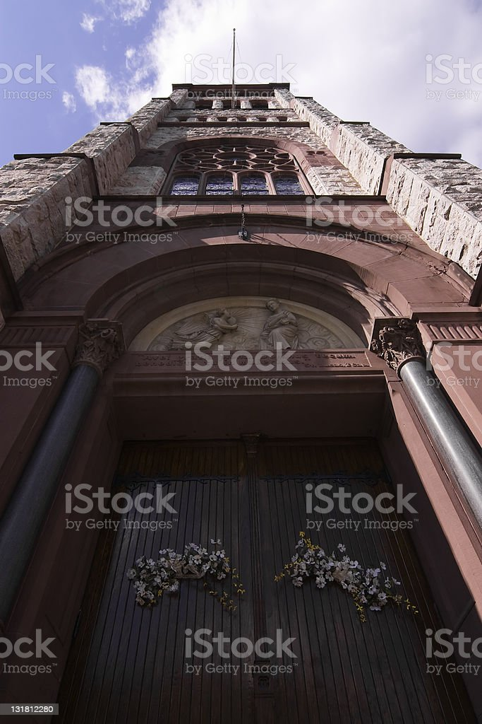 Dark Church stock photo