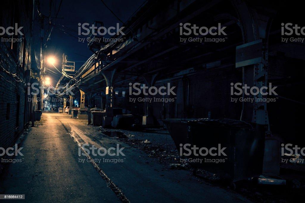 黑暗城市小巷圖像檔