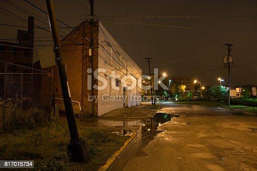 Dark Urban Corner at Night
