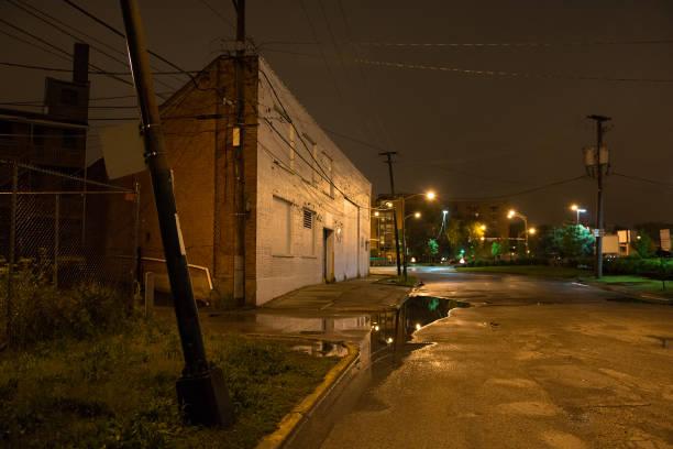 Dark City Corner stock photo