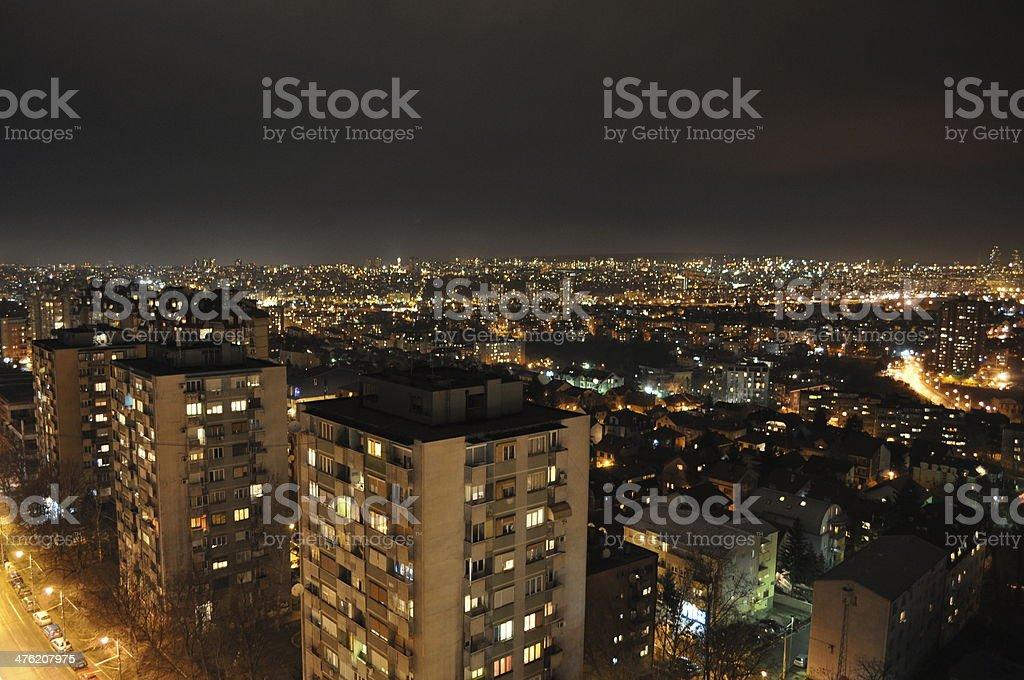 Dark city stock photo