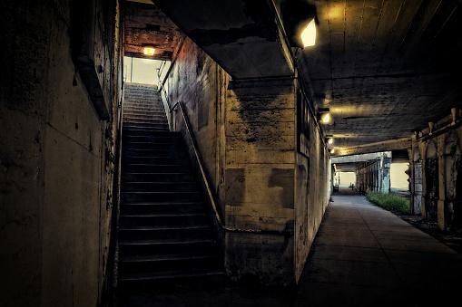 Dark City Train Entrance Tunnel
