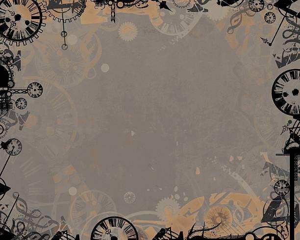 Ciemny zegary Rama tło przemysłowe – zdjęcie