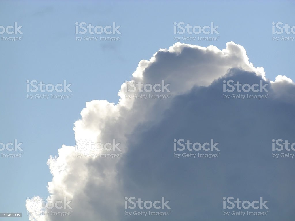 Dark Cloud Rising in Blue Sky royalty-free stock photo