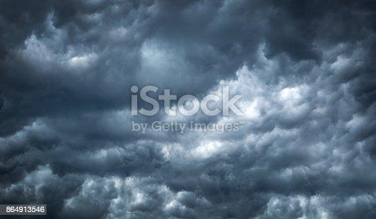1089986346 istock photo Dark cloud storm in summer before tornado is coming. 864913546