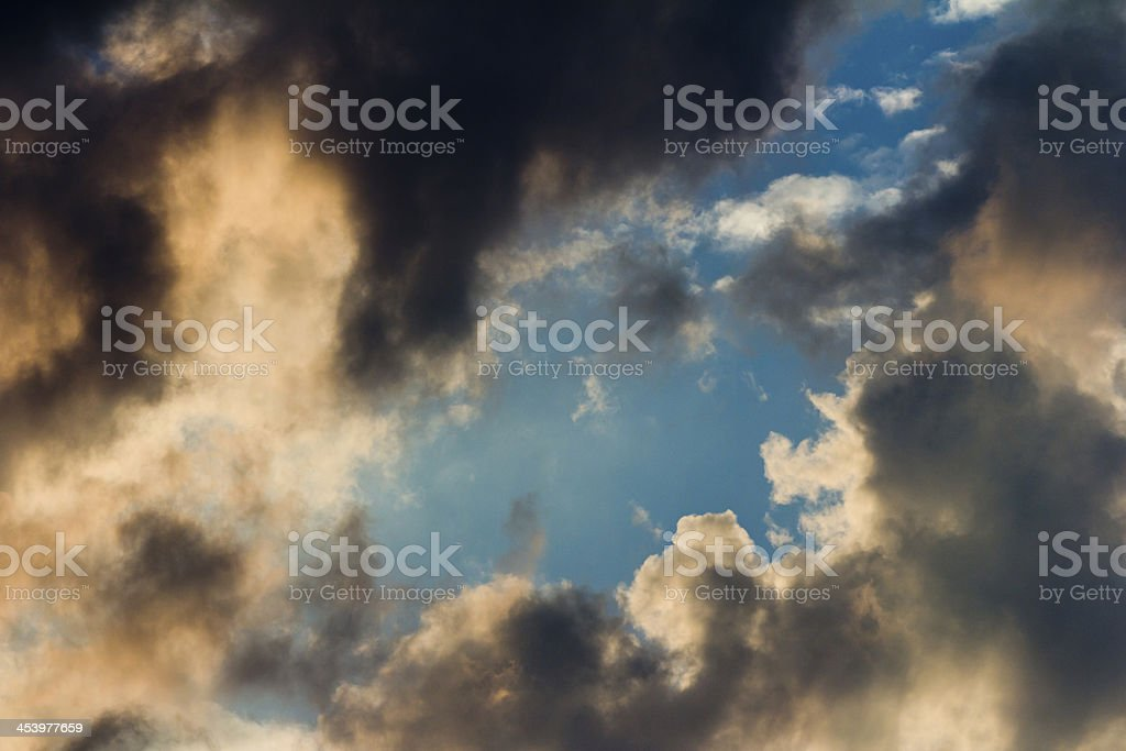 Dark Clouds and Blue Sky stock photo