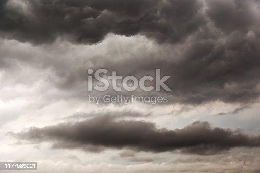 1089986346 istock photo Dark clouds before heavy raining. Clouds background. 1177589221