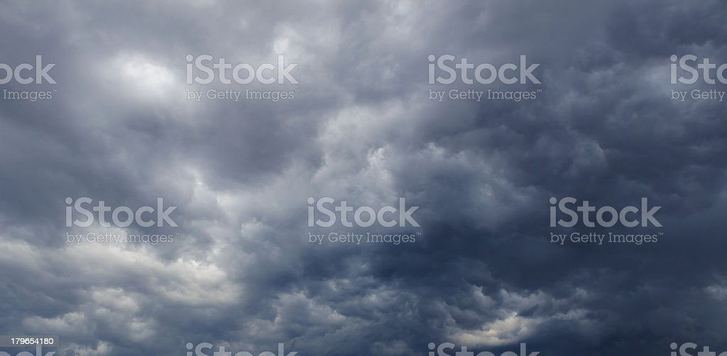 Dark clouds before thunderstorm royalty-free stock photo