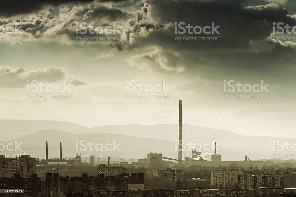 dark clouds coming royalty-free stock photo
