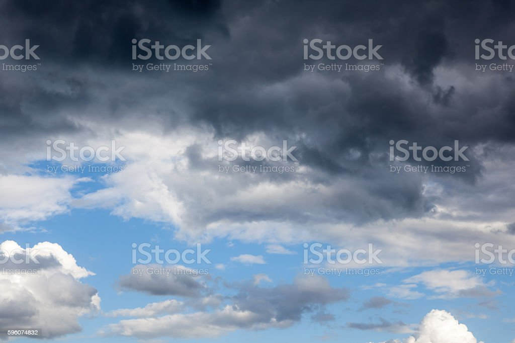Dark clouds in the sky royalty-free stock photo