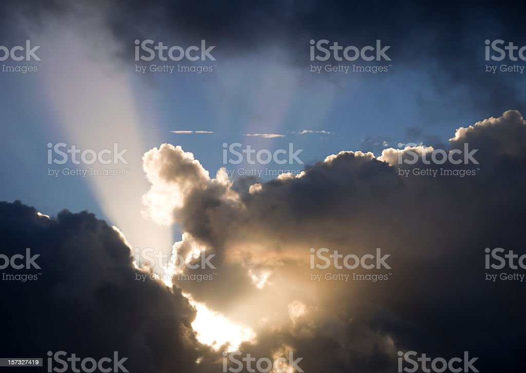 Dark Clouds Lit Up royalty-free stock photo