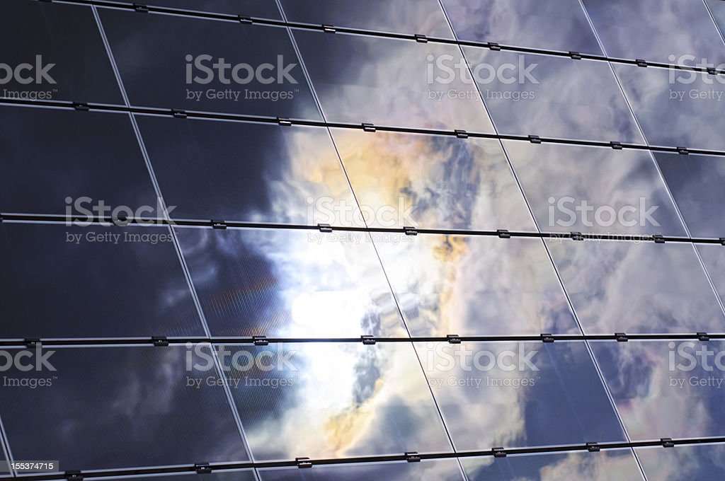 Dark clouds on a solar system royalty-free stock photo