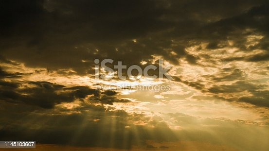 1013154212istockphoto Dark clouds with colorful sunset 1145103607