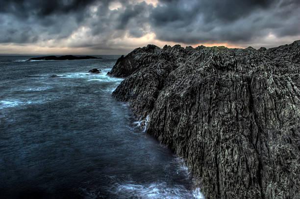 Dark coast. stock photo