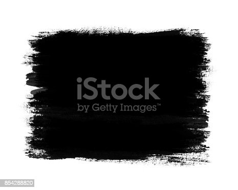 692319500 istock photo Dark color paint with brush stroke isolated on white background 854288820