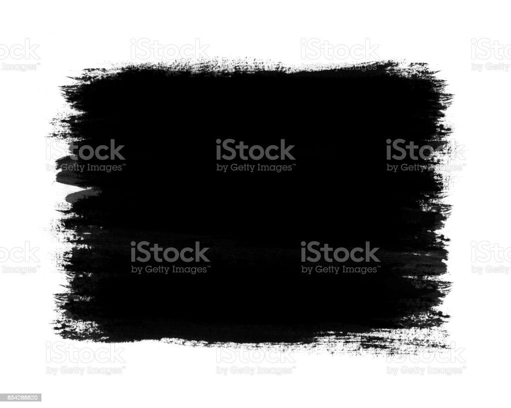 Dark color paint with brush stroke isolated on white background стоковое фото