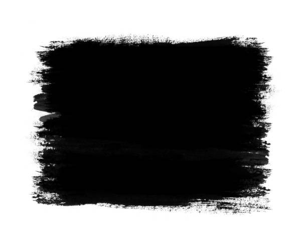 Cтоковое фото Dark color paint with brush stroke isolated on white background