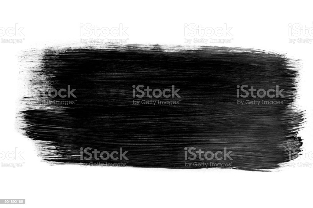 Dark color paint with brush stroke stock photo