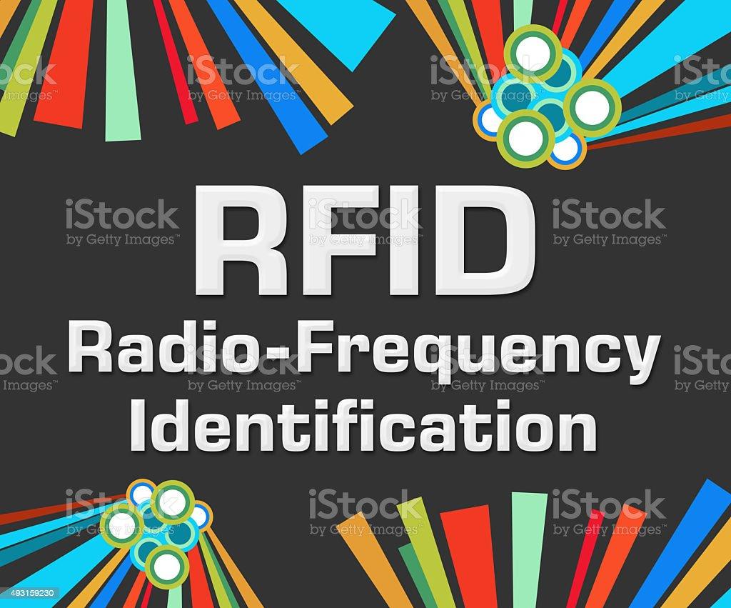 RFID Dark Colorful Elements stock photo