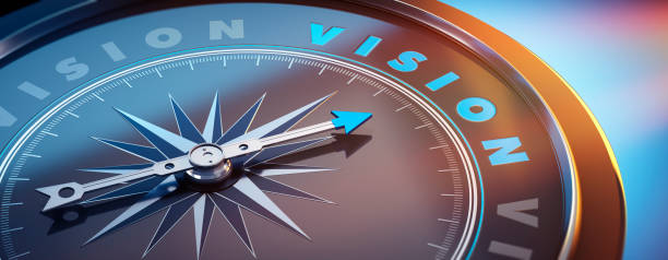 Dark Compass - Concept Vision stock photo